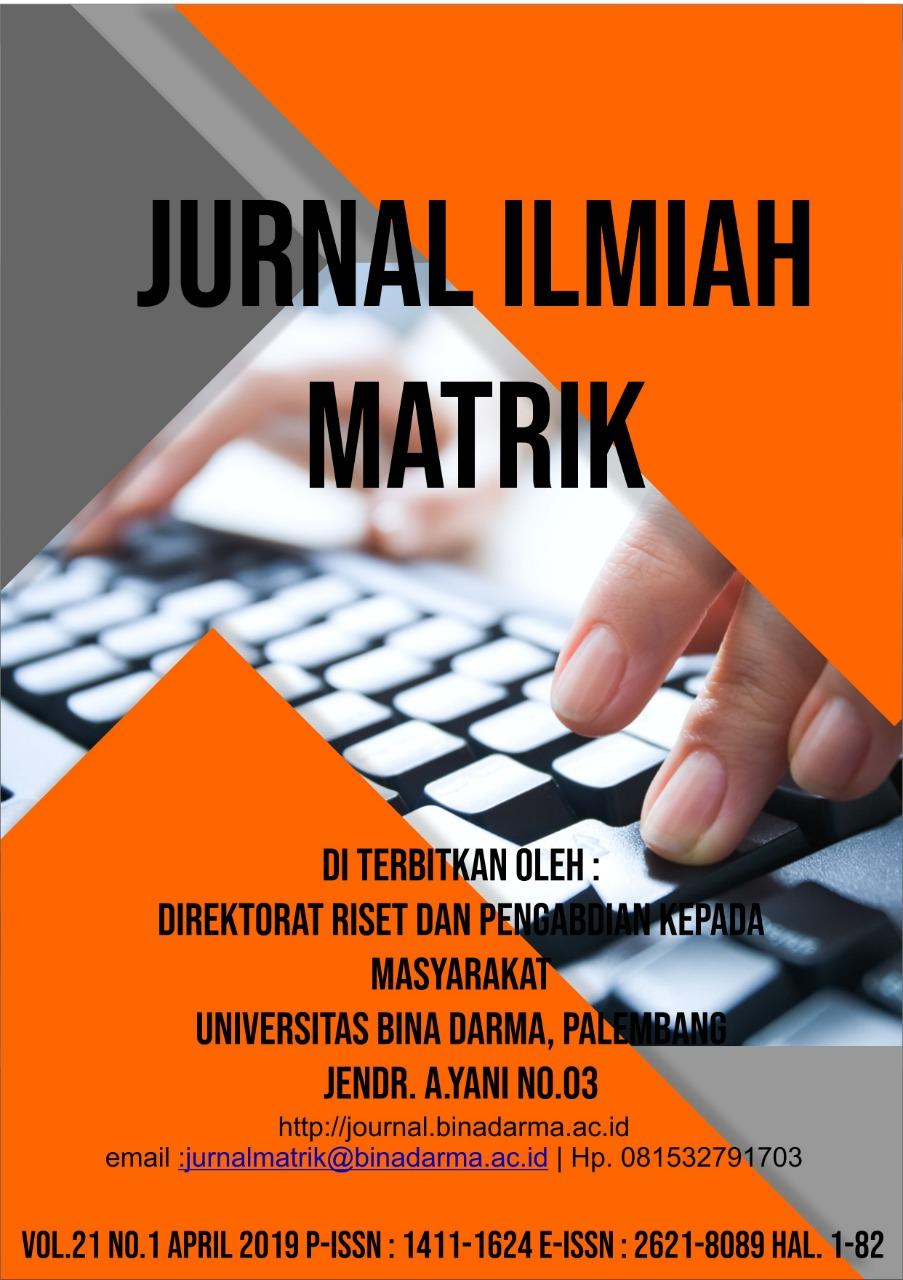 Cover Jurnal Ilmiah Matrik Baru